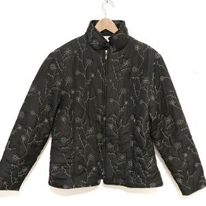 Vintage nina Capri quilted embroidered coat XL
